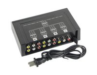 4 portas 1 em 4 saída 3 RCA Audio Video Splitter Amplificador AV para TV Box HDTV DVD