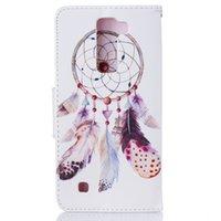 apfel windspiele großhandel-Wind Chime Wallet Ledertasche Für Iphone X 5 6 S 7 7 Plus Zurück Stand Halter Kreditkarteninhaber Slot Phone Cases