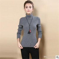 Wholesale Women Sweater New Turtleneck Pullover Winter Tops Solid Cashmere Sweater Autumn Female Sweater Hot Sale New High Quality
