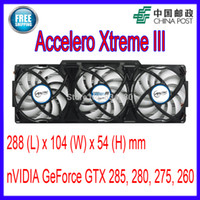 Atacado- ARCTIC Accelero Xtreme III VGA Cooler 3 Quiet 92mm PWM Fans Substituição nVidia AMD GTX 285, 280, 275, 260 Video Card Fan