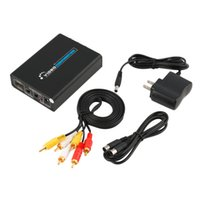 entradas rca venda por atacado-Freeshipping mais novo HDMI Entrada Digital para RCA Analógico Áudio / Vídeo CVBS / S-video Output Converter