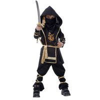 Wholesale Kids Martial Arts Ninja Assassin Halloween Costume Clothes Masquerade Carnival Cosplay Uniform
