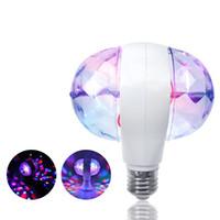 lámpara giratoria completa al por mayor-Mini Strobe bulbo de lámparas LED DJ Etapa de luz de color RGB Party Completo Auto rotación de Efecto mágico luces