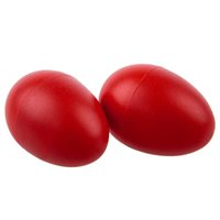 Wholesale Percussion Sale - Wholesale- Hot Sale 2 Plastic Red Egg Maraca Rattles Shaker Percussion Kid Musical Toy