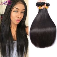 Brazilian Virgin Hair Cabelo Humano Weave Unprocessed Brazilian Hair Bundles Peruano Indian Malaysian Straight Extensions Natural Color