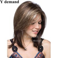 Wholesale kanekalon hair wigs - Fashion Short Haircuts Brown Bob Kanekalon Top Quality African American Women Wig New Hair For Women In Stock