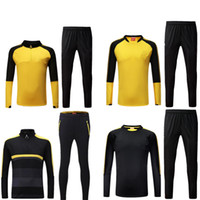 Wholesale Fields Kit - Dott yellow jersey new 2017 2018 AUBAMEYANG lattice ce DEMBELE PULISIC REUS mor field survetement soccer uniforms kit