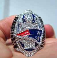 Wholesale England Souvenir - Real Photo ! New Arrivals 2017 England 2016 Patriots Super Bowl Championship Ring souvenir Fan Men Gift wholesale KRAFT Drop Shipping