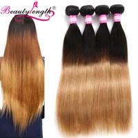 Wholesale Two Cheap Bundles Weave - Brazilian Human Hair 4 Bundles Bundles Cheap Straight Virgin Hair Weaves Two Tone 100 Human Hair Bundles Straight Weave Ombre Weaves