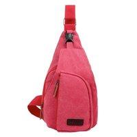 Wholesale Men S Bags Wholesale - Wholesale-Fashion Men Chest Bags Casual Canvas Messenger Bag Small Size Men\\\'s Travel Shoulder Bag