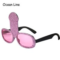 Wholesale Funny Bachelorette Party Glasses Hen Pink Penis Willy Costume Glasses Night Stag Fancy Accessories Decoration Night Favors