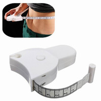 Wholesale fat tape - Free shipping 60'' 150cm Fitness Accurate Caliper Measuring Tape Body Fat Weight Loss Measure Retractable Ruler WA2011