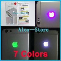 Wholesale Night Shine - LED Intelligent Night Cool Light Glow Shine Logo For iPhone 6 Glowing Logo Mod Kit Replacement Free Shipping