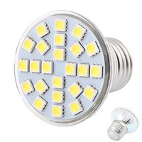 5050SMD Verre 5W conduit Spotlight 24 LEDs AC110v 220v GU10 E27 E14 B22 Ampoules LED 12V MR16 led Spot encastré Down Lights