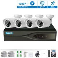 poe système de sécurité à domicile achat en gros de-HD 1800P POE 4PCS 2.0MP Caméra de sécurité réseau IP Système de vidéosurveillance 4CH HDMI NVR Alerte Email