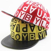 Wholesale Kids Hip Hop Accessories - Summer Kids Hip Hop Caps Boy's Girl's Printed Letter Pattern Snapback Baseball Caps Children Sun hats 3-8Year Fashion Accessories