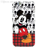 Wholesale Iphone4s Cases Cartoon - Wholesale-3D cute cartoon series painted Soft TPU mickey minnie mouse painting rigid fiited case cover for iphone4s 5s 5c 6 plus cape