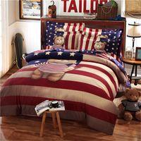 Wholesale Winnie Pooh Comforter Sets - Hot sale 2017 Home textile bedding-set lovely children's cartoon winnie the pooh teddy bear four pieces set