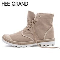 Wholesale Grand Falls - Wholesale-HEE GRAND Fall Men Boots Solid Fashion Ankle Boots Man Casual Lace Up Canvas Shoes Man High Quality Male Shoes Size 39-45 XWF294