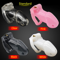 Wholesale Cock Lock Sex Bondage Toy - Latest Design 100% Resin Male Chastity Device Penis Cage with 4 Size Cock Ring BDSM Sex Toys For Men Bondage Cock Lock CPA238-1