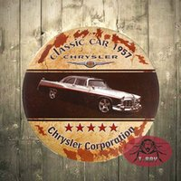 Wholesale Wholesale Man Cave - T-Ray Classic car 1957 house signs Round Tin Sign Man Cave Garage Bar Kitchen A-17 170314#