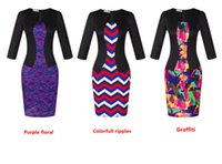 Wholesale New Style Professional Dresses - 2017 new style Fake two pieces sleeves sleeves dress two pieces of professional wear lace hip-hugging include belt pencil skirt dh-6