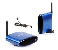 Wholesale Tv Extender Receiver - Free Shipping 5.8G Wireless AV Transmitter Receiver Audio Video TV Transmitter IR Remote extender for DVD STB DVR PAT-530