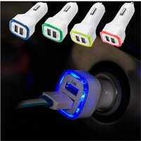 Wholesale Rocket Usb - LED Rocket-Design Car Charger For iPhone 7 Plus 6 6S 5v 2a Dual USB adapter for Samsung Galaxy S8 plus s7 edge Universal