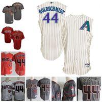Wholesale Mens Tan Vests - Mens Arizona Diamondbacks #44 Paul Goldschmidt 2017 Flex base Baseball Jerseys Stitched Diamondbacks cool base tan Purple Vest Jersey S 4XL