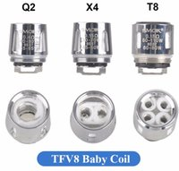 Wholesale Baby Scratch - 5pcs Authentic Smok TFV8 baby replacement coils V8 T8 Q2 X4 style with AB scratch code retail business