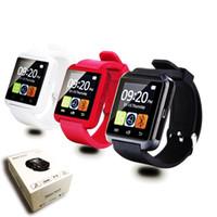elma orijinalleri toptan satış-Yeni orijinal u8 bluetooth smart watch kol u İzle için ios iphone samsung sony huawei android telefonlar için not xiaomi