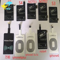 Wholesale qi wireless charge receiver - 2017 Qi Charger wireless Receiver Wireless Charging For Samsung Galaxy S3 S4 S5 NOTE2 NOTE3 NOTE4 type c iphone iphone plus