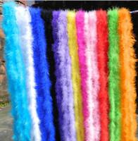 décorations de fête boa de plumes achat en gros de-Fête de mariage bricolage décorations boa de plumes 2 mètre déguisement poule nuit fête écharpe burlesque cadeau fleur bouquet enveloppé accessoire coloré