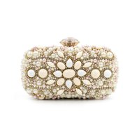 Wholesale Day Bag Beading - New Arrive Women Evening Bags Nude Stone Diamond Clutch Bag Lady's Banquet Chain Handbag Luxury Day Clutch Female Nude