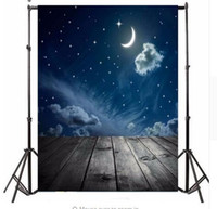 Wholesale Solid Color Vinyl Photography Backdrops - 3x5ft Photography Vinyl Background Night Moon Moon Board photo Studio Props Photographic Backdrop Waterproof 0.9m x 1.5m