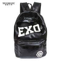 Wholesale Exo Style - Wholesale- WILIAMGANU 2017 Hot Women's Colorful Pu Ackpacks Rucksacks Men Women Student School Bags for Girl Boy Casual Travel EXO Bags