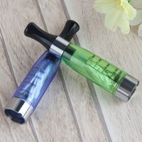 Wholesale Ce4 Atomizer Leak - CE4 Atomizer 8 Available Colors 1.6ml 2.4ohm 4 Wicks No Leak Math With EGo E-cig Battery CE4 Clearomizer