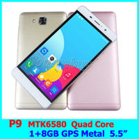 Wholesale P9 Quad Core - 5.5 inch JIAKE P9 RAM 1GB ROM 8GB MTK6580 Quad Core Mobile Phones Android 6.0 Dual SIM Unlock Smartphone Gesture GPS