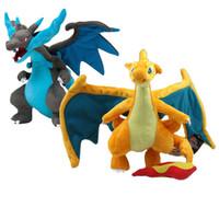 "Wholesale styling doll - 9"" 23 CM 2 Styles Mega Evolution X&Y Charizard Pikachu Plush Toys Soft Stuffed Doll Kids Gift"