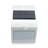 yeni güneş ledli ışıklar toptan satış-Yeni Sürüm Dokunmatik Anahtarı PIR Montion Sensörü Güneş Işık 24LED Su Geçirmez Açık Bahçe Solar Lamba Güvenlik Güneş Duvar Işık