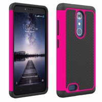 Wholesale zte dual - Hot Heavy Duty Case For ZTE Z981 Phone Case Dual Layer Kickstand Heavy Duty Armor Shockproof Hybrid Silicone Case For ZTE Z981