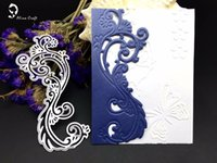 Wholesale Wedding Stencils - Metal cutting dies borderline lace pull edge Scrapbook card paper craft home wedding party decoration embossing stencil punch