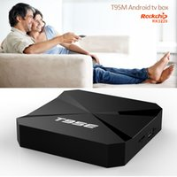 Wholesale Android Tv Series - T95E TV Box Android 5.1 RK3229 Quad Core Cortex A7 1GB 8GB WIFI Media Player T95 Series Set Top Box