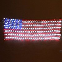 unique 110v 420 bulbs american led flag net lights for festival and holiday decoration flag led string lightchristmas lights - American Flag Christmas Lights