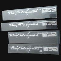 Wholesale Yaris Racing - Nickel Alloy TRD Racing Development Door Handle Sticker Car Window Wiper Decals for Toyota Corolla Auris RAV4 Camry Yaris Prius Reiz Avensis