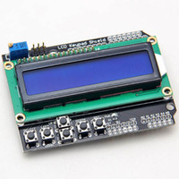 Wholesale Lcd Display Arduino Uno - LCD Display For Arduino 1602 Keypad Shield Module 16x2 5V Blue Backlight With White Word Display For ATMEGA328 ATMEGA2560 UNO