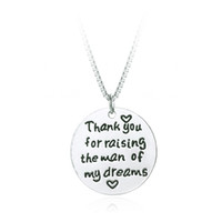 Wholesale Silver Law - Thank You for Raising the Man Of My Dreams Necklace Wedding Gift Mother in Law Mother's day gift
