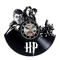 Wholesale harry potter wall - Vinyl Record Harry Potter Design Wall Clock Christmas Gift