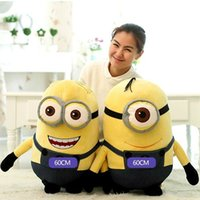 Wholesale Despicable Plush Doll Toy - 161154 Hot Sell Despicable Me Big eyes Minions oversized plush toys monocular and binocular dolls Children Birthday gift