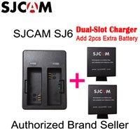 sjcam marke großhandel-Großhandel-Neu eingetroffen - Original SJCAM Marke SJ6 LEGEND Dual-Slot-Akku Reiseladegerät für SJ6 Legend Sports DV-Kamera